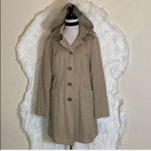 Michael Kors Single-breasted Hooded Trench Coat
